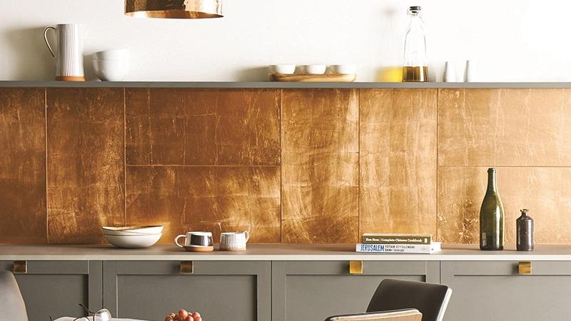 Tiles of copper